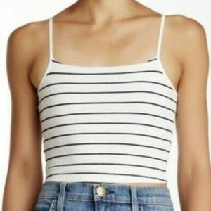Abound Nordstrom cropped tank top blue stripe